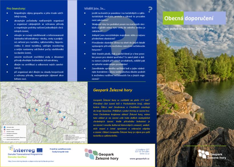 Obecná doporučení pro pohyb v Geoparku Železné hory